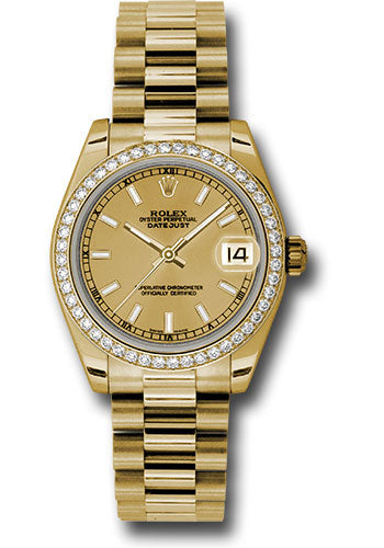 Rolex 18k WG & Diamond Datejust - 31mm - Mid-Size #178288 chdp