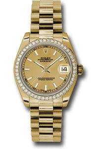 Rolex 18k WG & Diamond Datejust - 31mm - Mid-Size #178288 chip