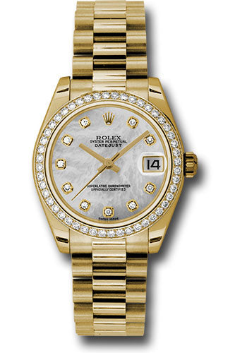 Rolex 18k WG & Diamond Datejust - 31mm - Mid-Size #178288 mdp