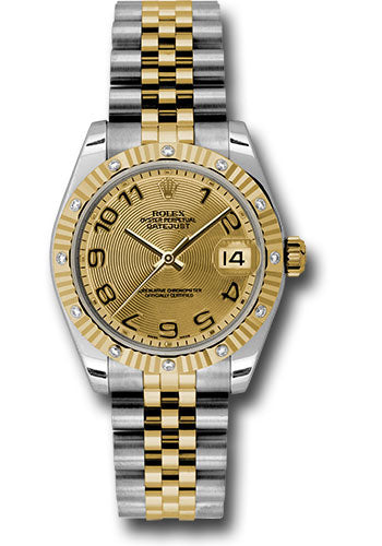 Rolex Steel, YG, & Diamond Datejust - 31mm - Mid-Size #178313 chcaj