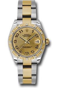 Rolex Steel, YG, & Diamond Datejust - 31mm - Mid-Size #178313 chcao