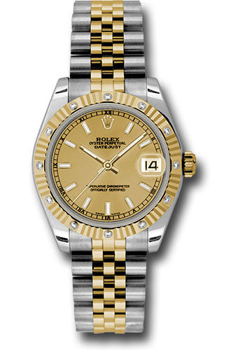 Rolex Steel, YG, & Diamond Datejust - 31mm - Mid-Size #178313 chij