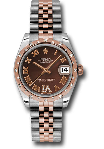 Rolex Steel, RG, & Diamond Datejust - 31mm - Mid-Size #178341 chodrj