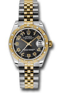 Rolex Steel, RG, & Diamond Datejust - 31mm - Mid-Size #178343 bkcaj