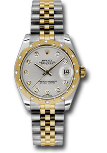 Rolex Steel, YG, & Diamond Datejust - 31mm - Mid-Size #178343 sd