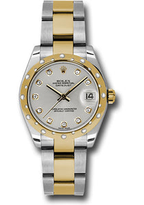 Rolex Steel, YG, & Diamond Datejust - 31mm - Mid-Size #178343 sdo