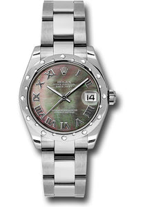 Rolex Steel, WG, & Diamond Datejust - 31mm - Mid-Size #178344 dkmro