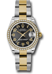 Rolex Steel, YG, & Diamond Datejust - 31mm - Mid-Size #178383 bkcao