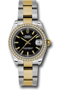 Rolex Steel, YG, & Diamond Datejust - 31mm - Mid-Size #178383 bkio