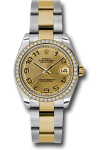 Rolex Steel, YG, & Diamond Datejust - 31mm - Mid-Size #178383 chcao