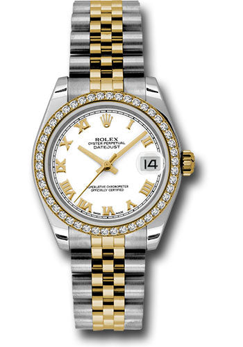 Rolex Steel, YG, & Diamond Datejust - 31mm - Mid-Size #178383 wrj