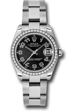 Rolex Steel, WG, & Diamond Datejust - 31mm - Mid-Size #178384 bkcao