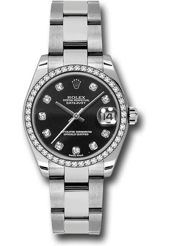 Rolex Steel, WG, & Diamond Datejust - 31mm - Mid-Size #178384 bkdo