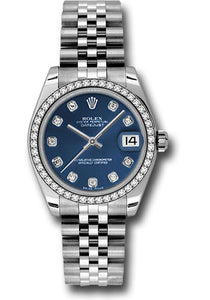 Rolex Steel, WG, & Diamond Datejust - 31mm - Mid-Size #178384 bldj