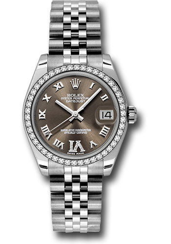 Rolex Steel, WG, & Diamond Datejust - 31mm - Mid-Size #178384 brdrj