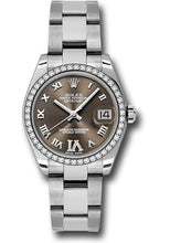 Rolex Steel, WG, & Diamond Datejust - 31mm - Mid-Size #178384 brdro