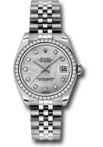 Rolex Steel, WG, & Diamond Datejust - 31mm - Mid-Size #178384 mdj