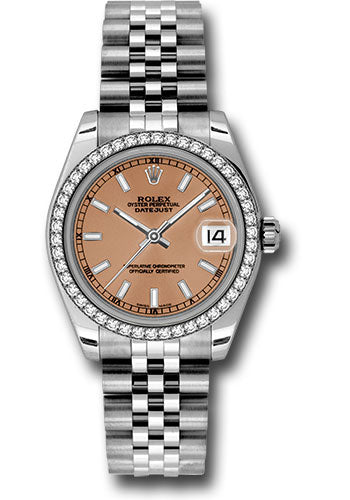 Rolex Steel, WG, & Diamond Datejust - 31mm - Mid-Size #178384 pij