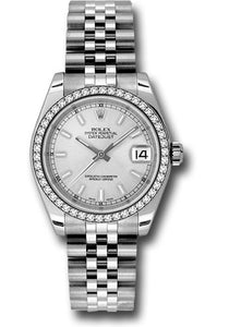 Rolex Steel, WG, & Diamond Datejust - 31mm - Mid-Size #178384 sij