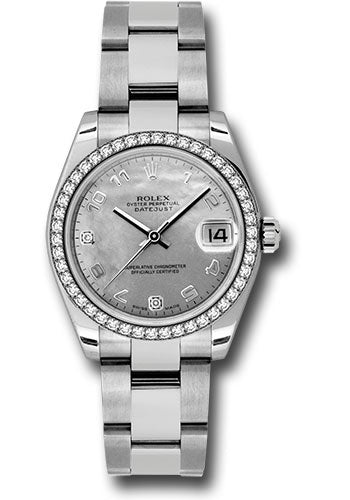 Rolex Steel, WG, & Diamond Datejust - 31mm - Mid-Size #178384 wgdmdao