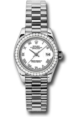 Rolex Platinum Datejust President 26mm #179136 wrp
