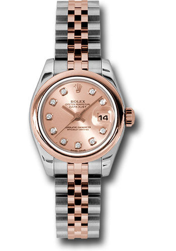 Rolex Steel and 18k RG Datejust -26mm #179161 pdj