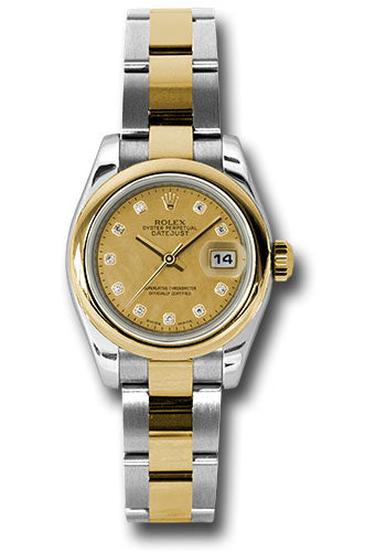 Rolex Steel and 18k YG Datejust -26mm #179163 chgdmdo