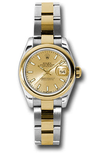 Rolex Steel and 18k YG Datejust -26mm #179163 chso