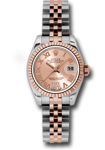 Rolex Steel and 18k RG Datejust -26mm #179171 pdrj