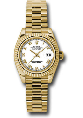 Rolex 18k YG Datejust President -26mm #179178 wrp