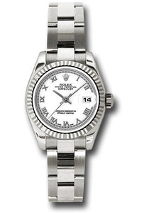 Rolex ladies white gold Datejust model # 179179 wro