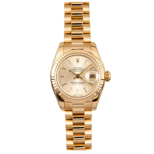 Rolex ladies president model # 179178 Champagne Dial
