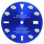 Custom deep blue ocean submariner diamond dial