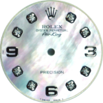 Custom white sky mother of pearl diamond dial for Rolex Air-King