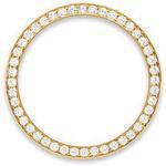 Custom 18k rose gold 1.5ct diamond bezel for 36mm Rolex