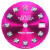 Custom magenta diamond dial for laies Rolex