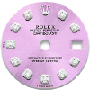 Custom pink lilac diamond dial for ladies Rolex