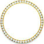 Custom 18k yellow gold diamond bezeld for 36mm Rolex