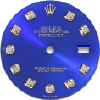 Custom royal blue diamond dial for ladies Rolex