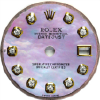 Custom lilac mother of pearl diamond dial