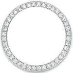 Custom 18k white gold 2.75ct diamond bezel for 36mm Rolex