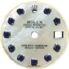 Custom mother of pearl sapphire dial