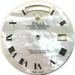 Custom white fluffy cloud mother of pearl  roman dial 36mm Day-Date