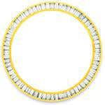 Custom 18k yellow gold 3ct baguette diamond bezel for men's Rolex