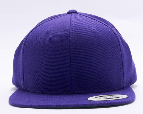 Purple Classic flatpeak snapback 6689F