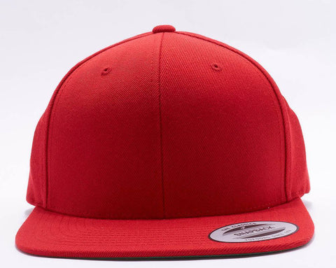 Red Classic flatpeak snapback 6689F