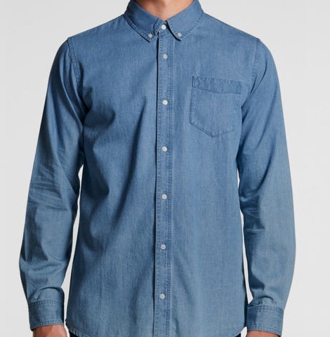Men's Blue Denim Shirt