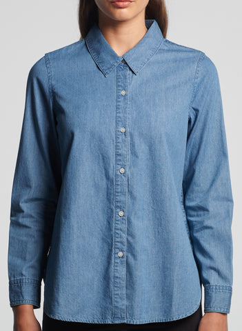 Ladies Blue Demin Shirt