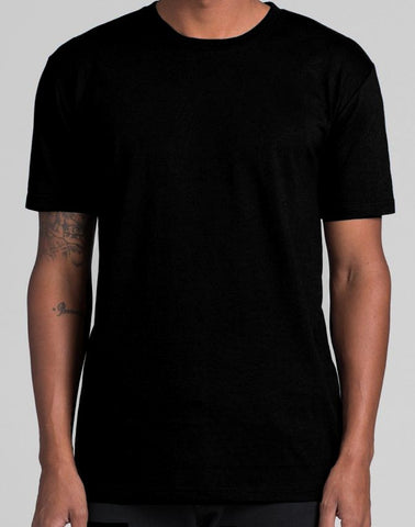 Black AS Colour Staple tee - front print