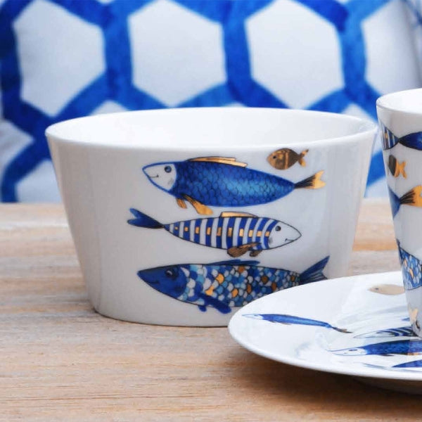 Breakfast set Blue gold edition for 6
